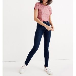"""Madewell 9"""" High-Rise Skinny Jeans in Larkspur"""